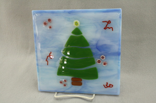 Small Tree plate at Roses Glassworks
